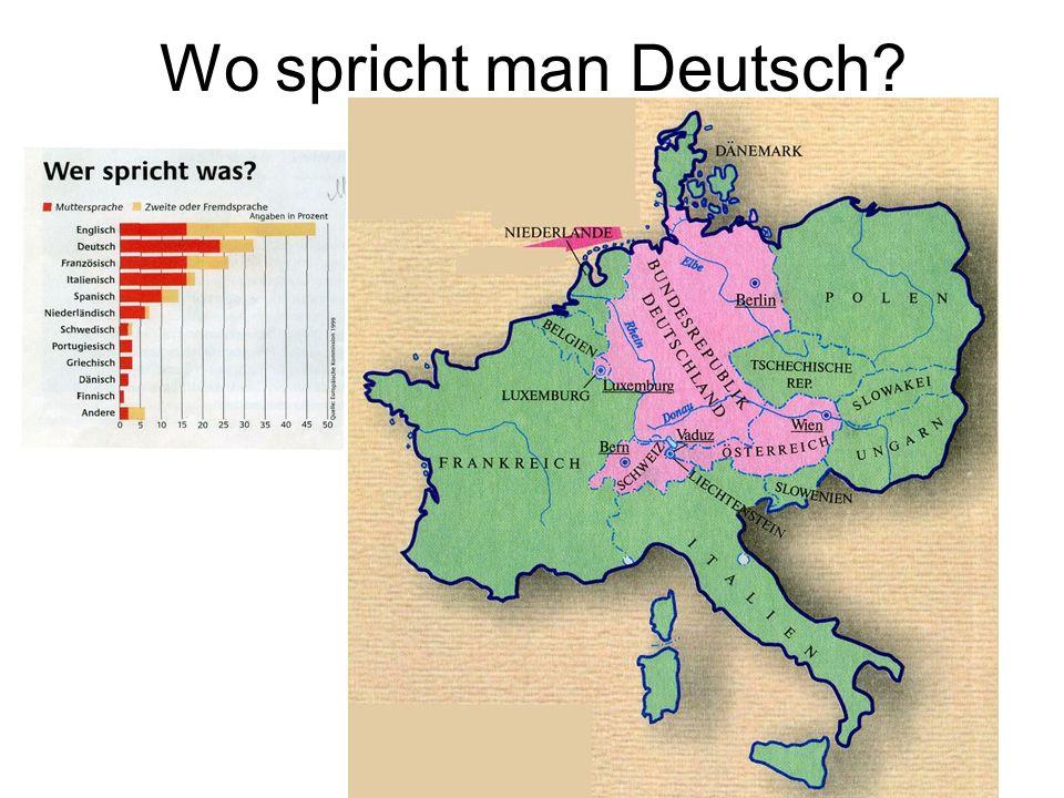 Wo spricht man Deutsch?