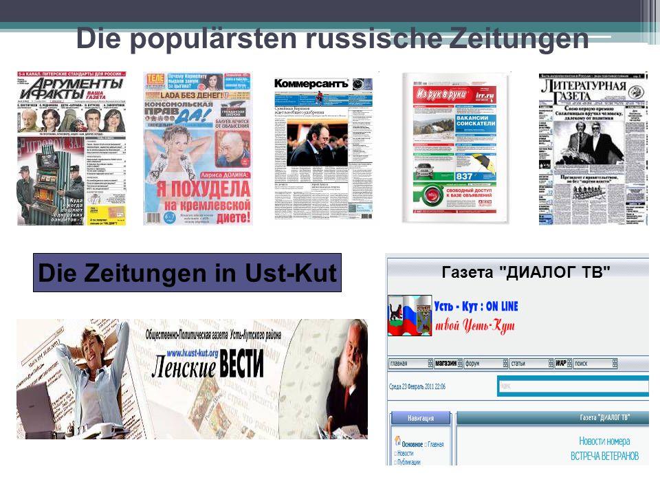 Die populärsten russische Zeitschriften