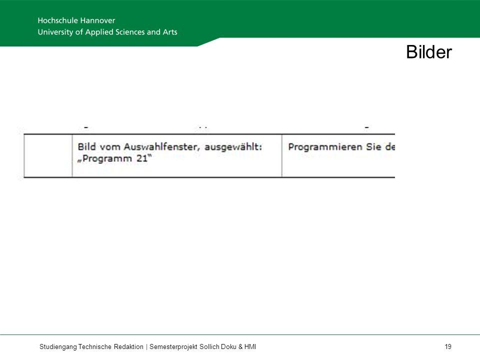 Studiengang Technische Redaktion | Semesterprojekt Sollich Doku & HMI 19 Bilder