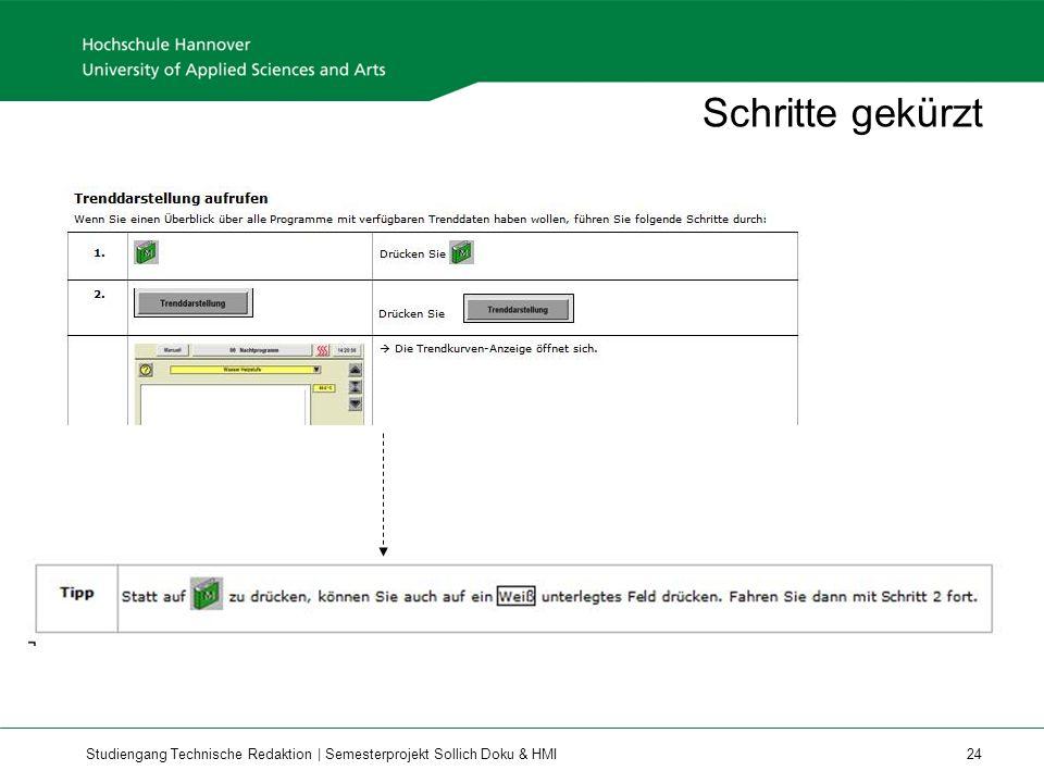 Studiengang Technische Redaktion | Semesterprojekt Sollich Doku & HMI 24 Schritte gekürzt