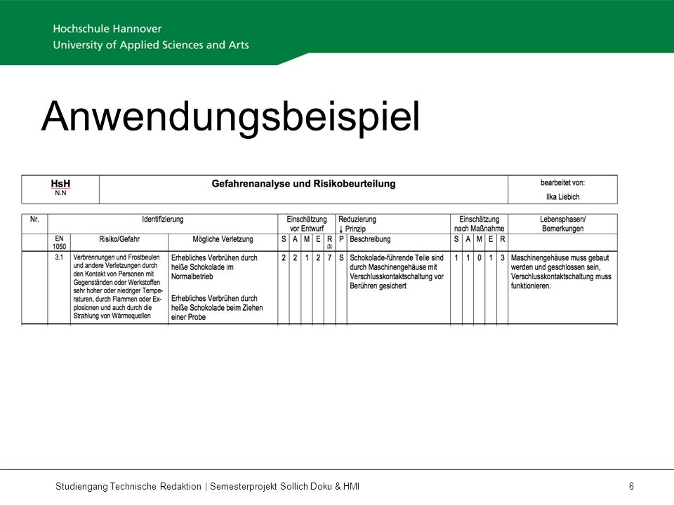 Studiengang Technische Redaktion | Semesterprojekt Sollich Doku & HMI 7
