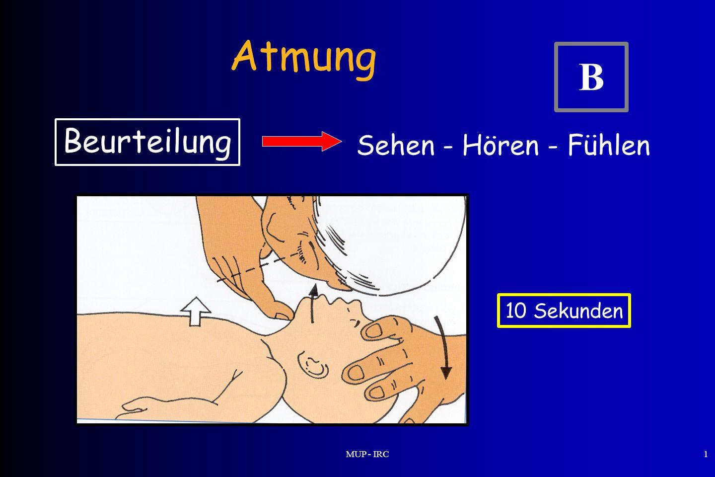 MUP - IRC1 Atmung Beurteilung Sehen - Hören - Fühlen 10 Sekunden B