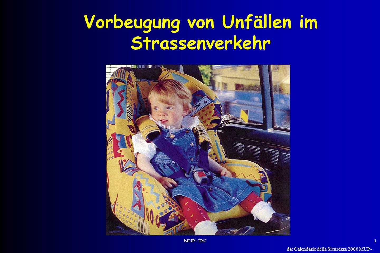 MUP - IRC1 Vorbeugung von Unfällen im Strassenverkehr da: Calendario della Sicurezza 2000 MUP- IRC