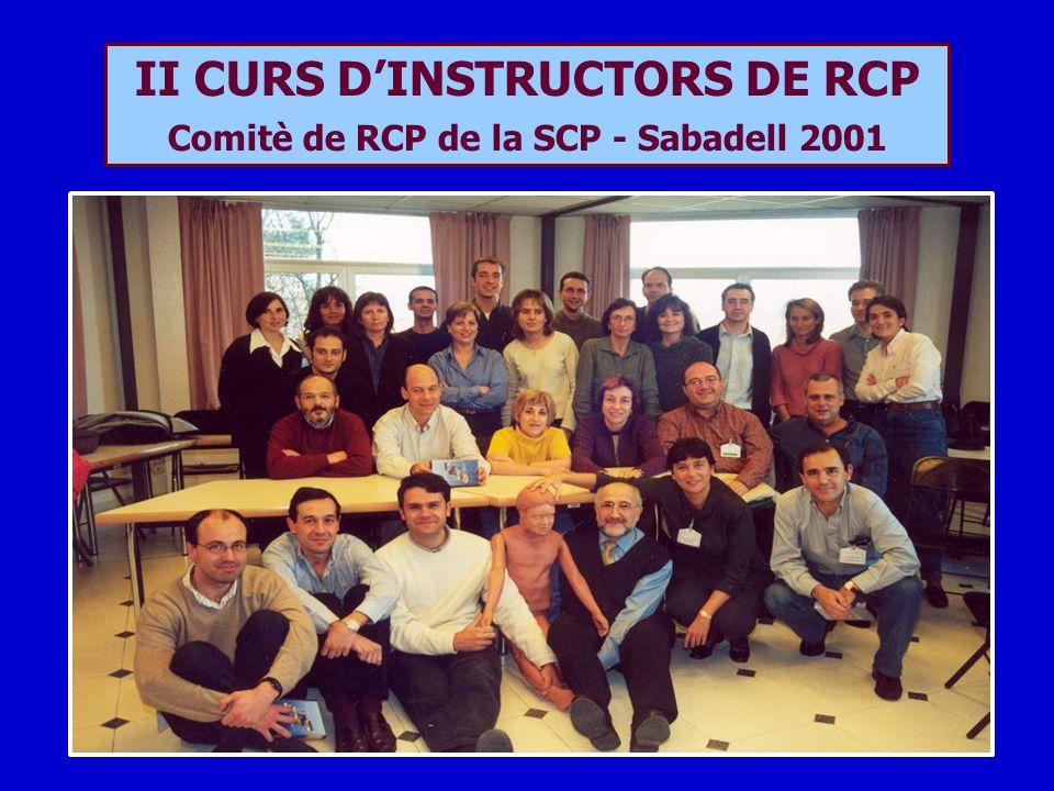 II CURS DINSTRUCTORS DE RCP Comitè de RCP de la SCP - Sabadell 2001