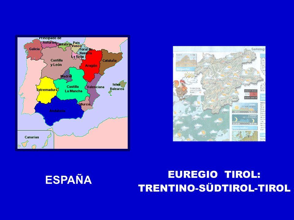 ESPAÑA EUREGIO TIROL: TRENTINO-SÜDTIROL-TIROL