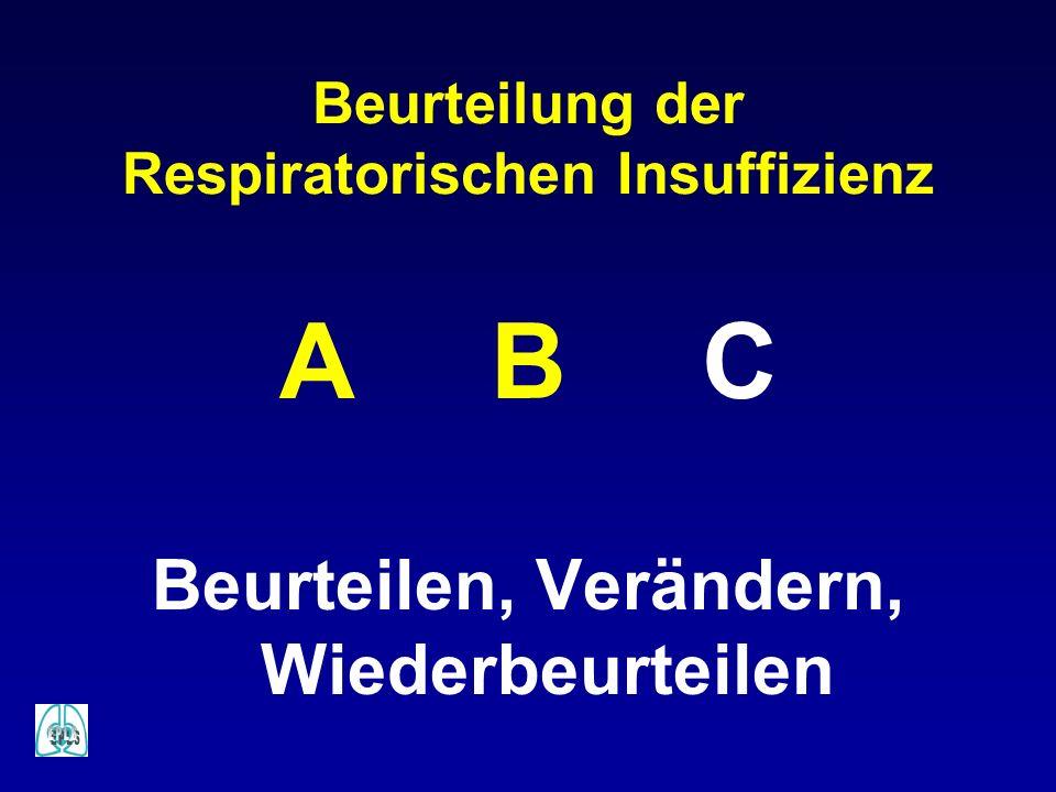 Beurteilung der Respiratorischen Insuffizienz ABC Beurteilen, Verändern, Wiederbeurteilen
