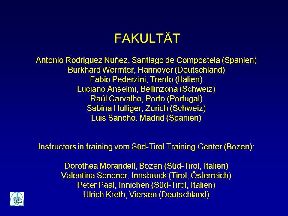 FAKULTÄT Antonio Rodriguez Nuñez, Santiago de Compostela (Spanien) Burkhard Wermter, Hannover (Deutschland) Fabio Pederzini, Trento (Italien) Luciano