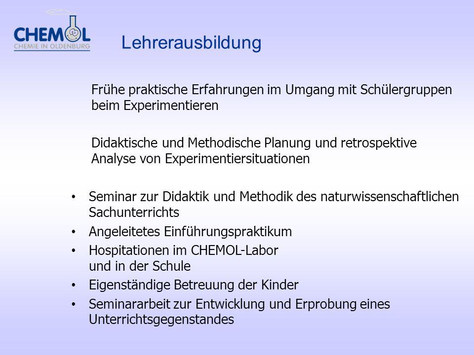 Frühe praktische Erfahrungen im Umgang mit Schülergruppen beim Experimentieren Didaktische und Methodische Planung und retrospektive Analyse von Exper