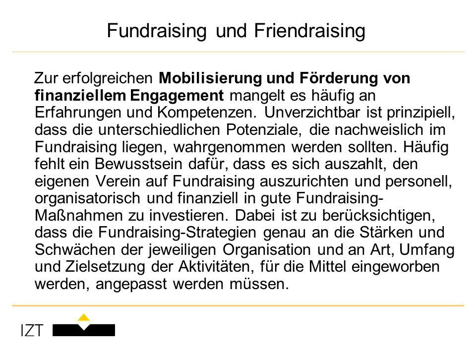 Fundraising und Friendraising Zur erfolgreichen Mobilisierung und Förderung von finanziellem Engagement mangelt es häufig an Erfahrungen und Kompetenzen.