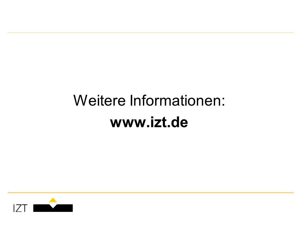 Weitere Informationen: www.izt.de