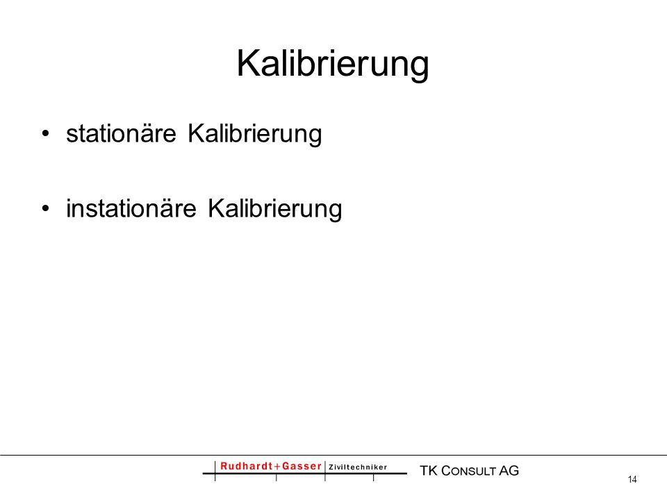 14 Kalibrierung stationäre Kalibrierung instationäre Kalibrierung