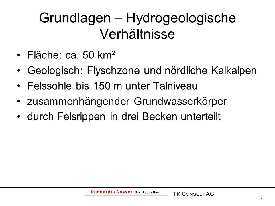 38 Trinkwasserversorgung – Potential der Schongebiete SchongebietKonsensmenge derzeit Potential Untere Lutz55 l/s1.400 l/s Tschalenga Au0 l/s250 l/s Satteiner Au90 l/s800 l/s Frastanz280 l/s380 l/s