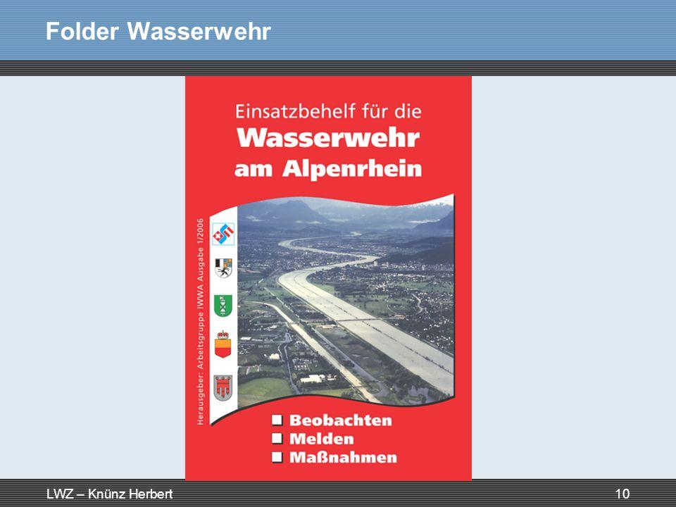 LWZ – Knünz Herbert10 Folder Wasserwehr