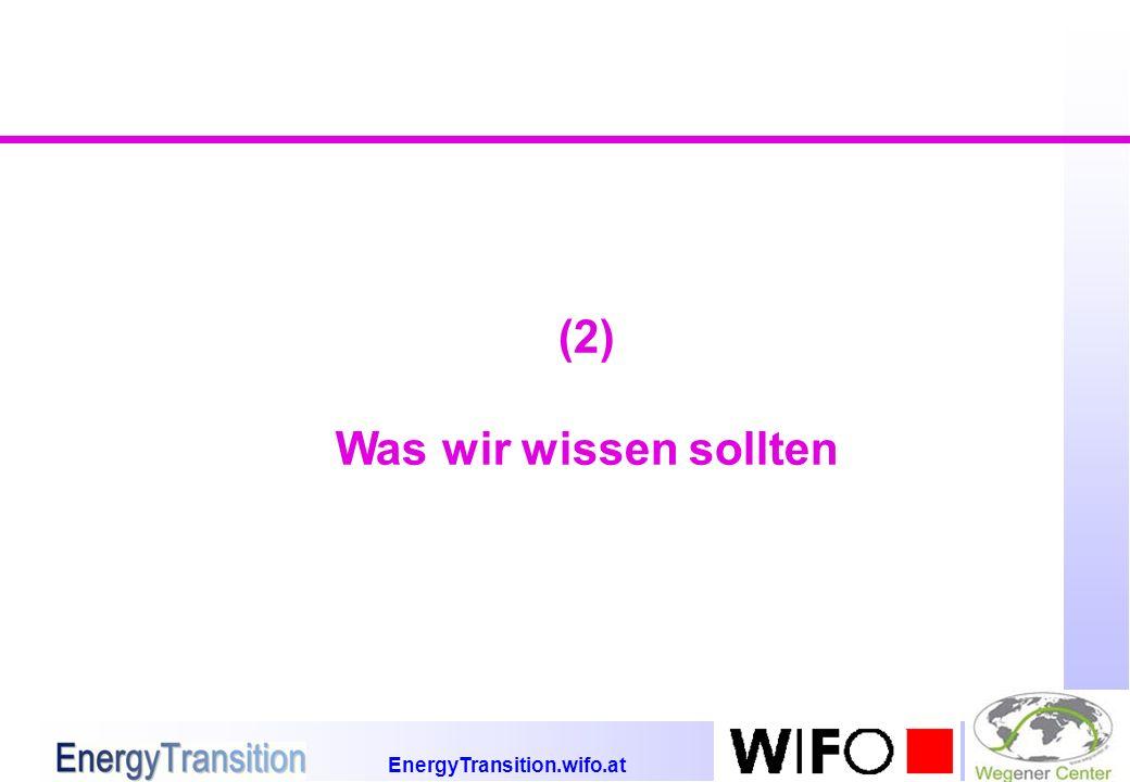EnergyTransition.wifo.at (2) Was wir wissen sollten