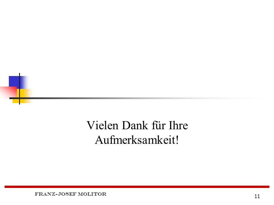 Franz-Josef Molitor 11 Vielen Dank für Ihre Aufmerksamkeit!