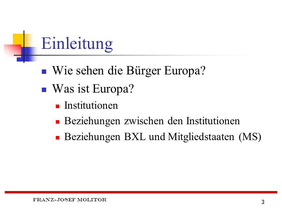 Franz-Josef Molitor 3 Einleitung Wie sehen die Bürger Europa.
