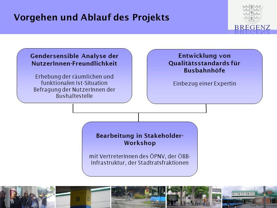 Vorgehen und Ablauf des Projekts