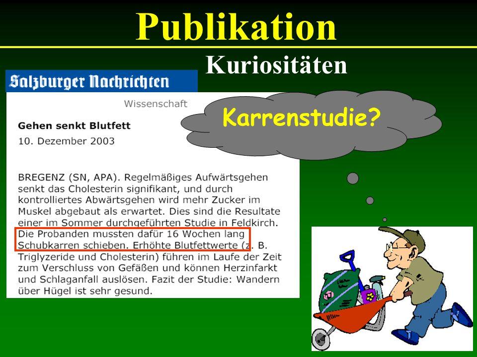 Karrenstudie? Publikation Kuriositäten