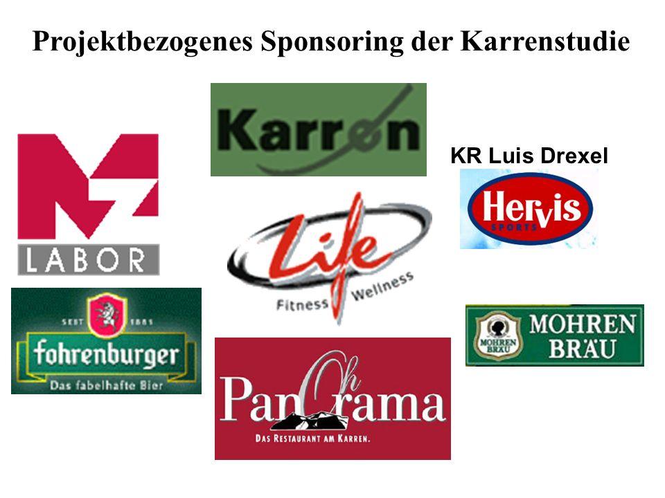 Projektbezogenes Sponsoring der Karrenstudie KR Luis Drexel