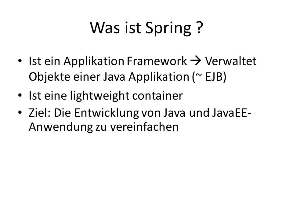 Was ist Spring .