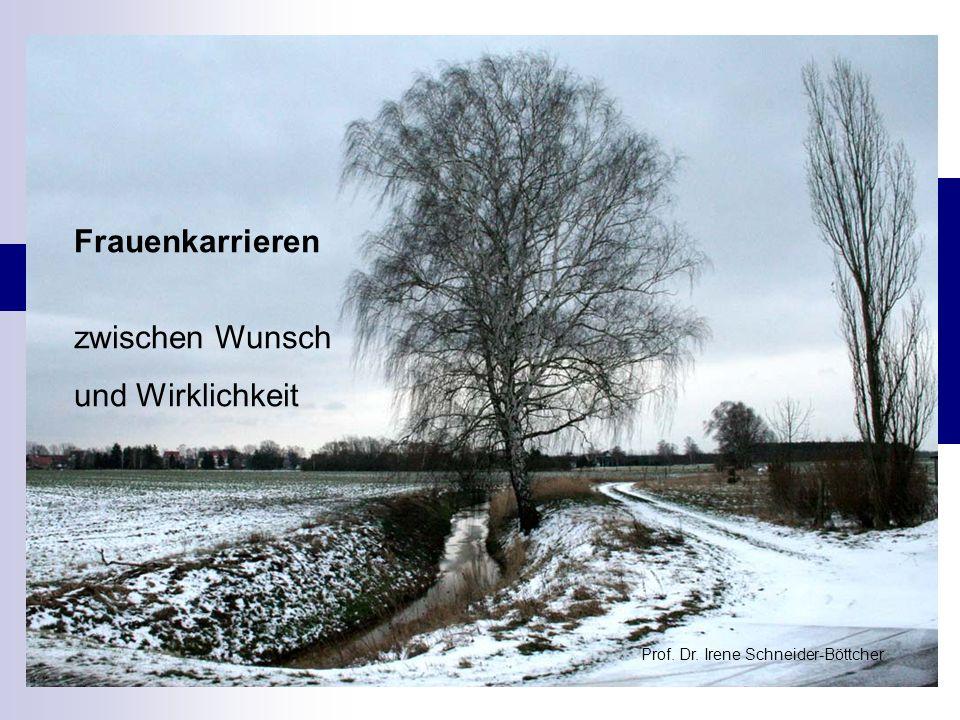 Frauenkarrieren zwischen Wunsch und Wirklichkeit Prof. Dr. Irene Schneider-Böttcher