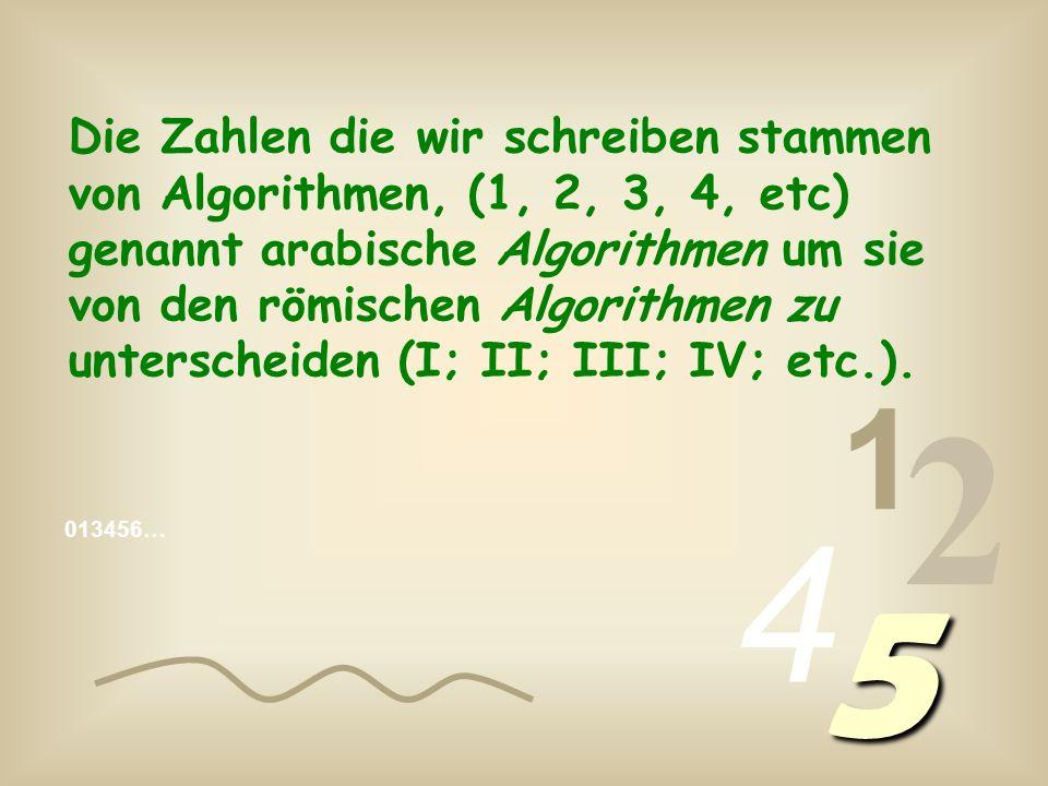 013456… 1 2 4 5 Die Zahlen