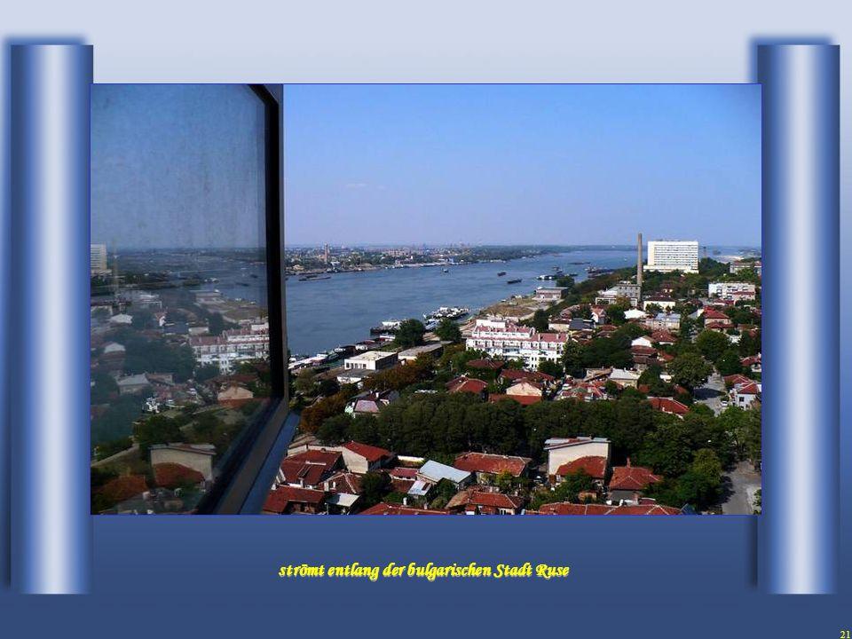 20 Die Donau überquert die Grenze von Bulgarien mit Vim...