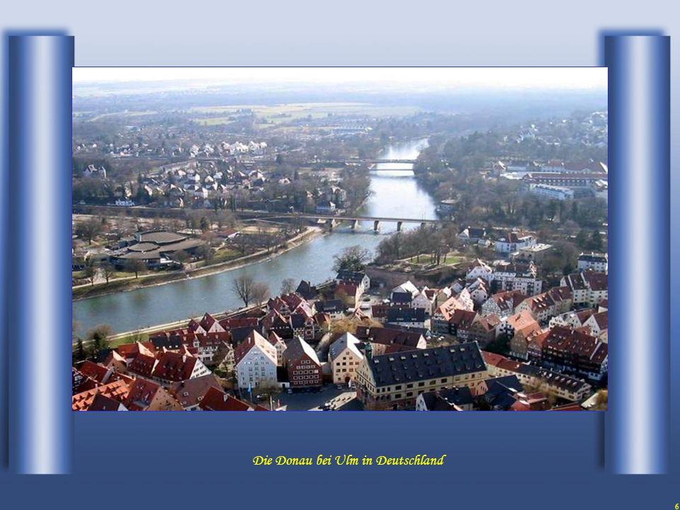 6 Die Donau bei Ulm in Deutschland