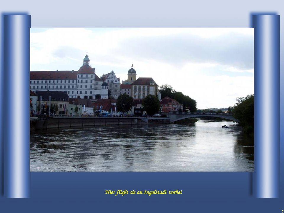 7 Hier fließt sie an Ingolstadt vorbei