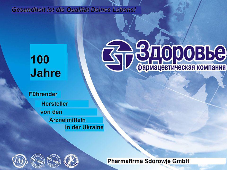 Die Pharmafirma Sdorowje hat eine hundertjährige Arbeitserfahrung auf dem pharmazeutischen Markt.