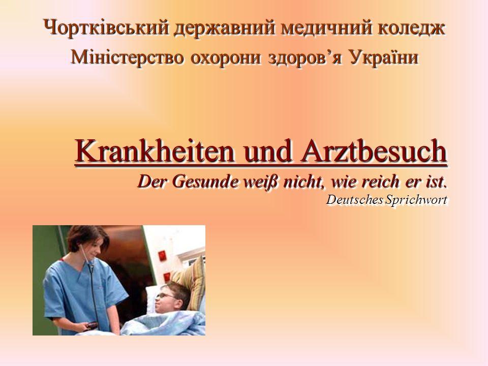 Krankheiten und Arztbesuch Der Gesunde weiß nicht, wie reich er ist.