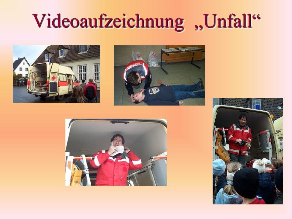 Videoaufzeichnung Unfall