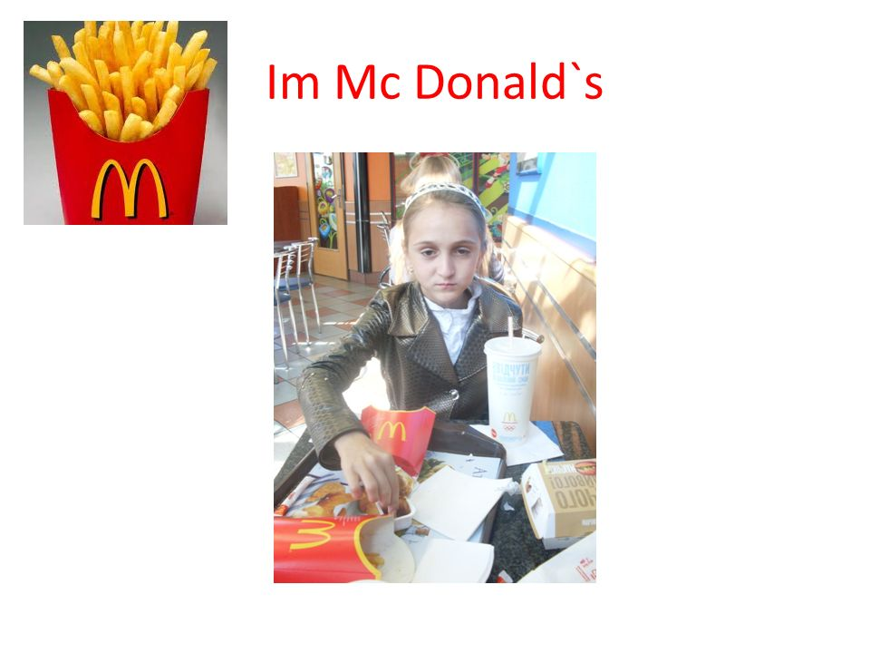 Im Mc Donald`s
