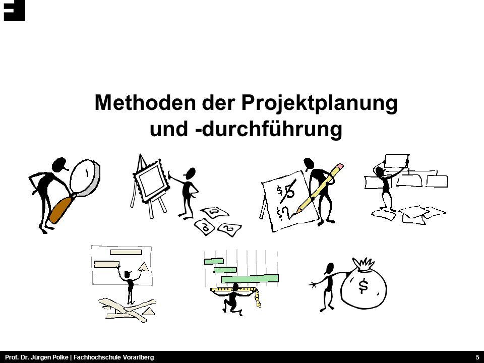 Prof. Dr. Jürgen Polke | Fachhochschule Vorarlberg5 Methoden der Projektplanung und -durchführung