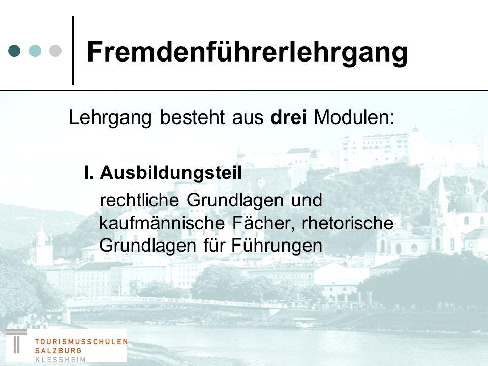 Fremdenführerlehrgang II.+ III.