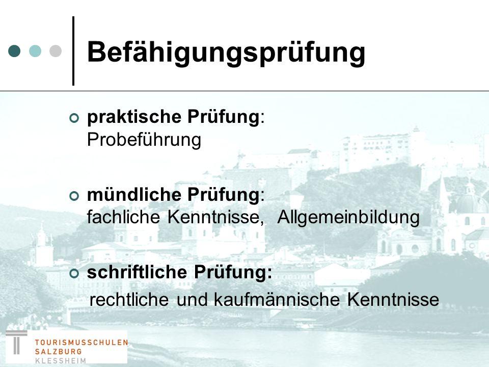 Gewerbeberechtigung nach erfolgreicher Absolvierung der Befähigungsprüfung bei der Wirtschaftskammer Salzburg
