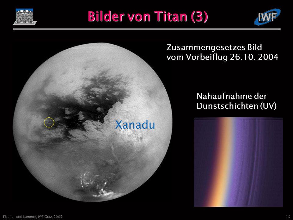 13 Fischer und Lammer, IWF Graz, 2005 Bilder von Titan (3) Xanadu Zusammengesetzes Bild vom Vorbeiflug 26.10.