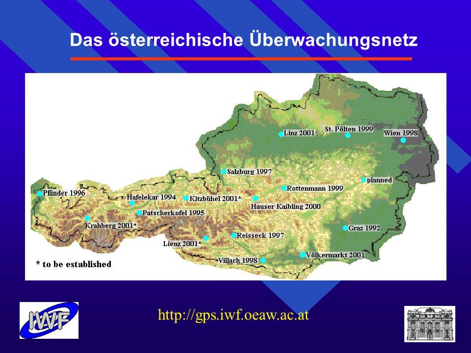 Das österreichische Überwachungsnetz http://gps.iwf.oeaw.ac.at