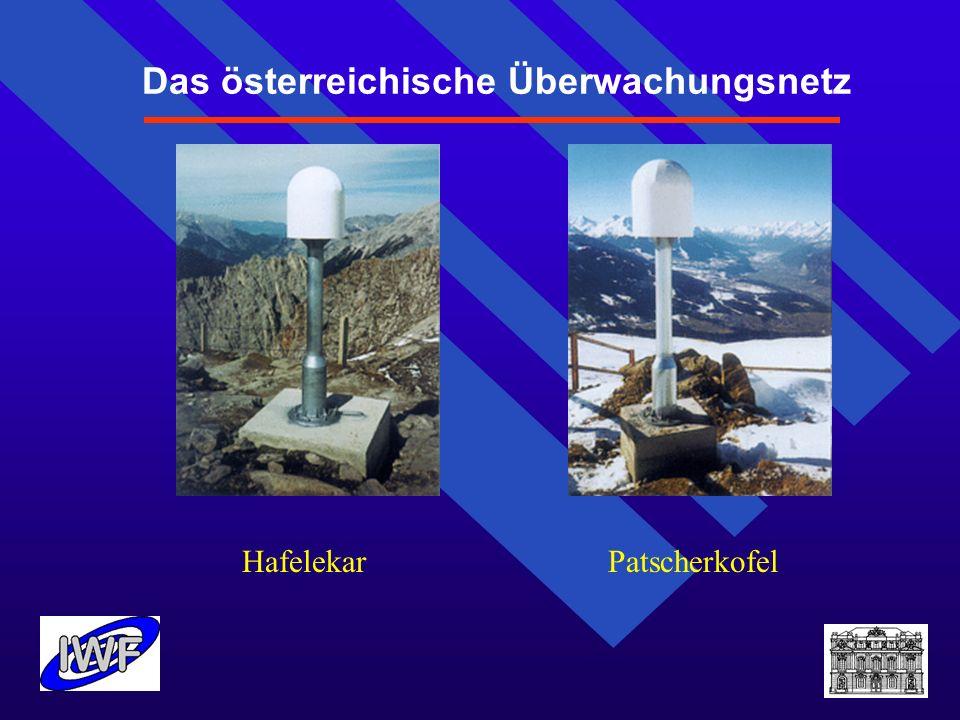 Das österreichische Überwachungsnetz Hafelekar Patscherkofel