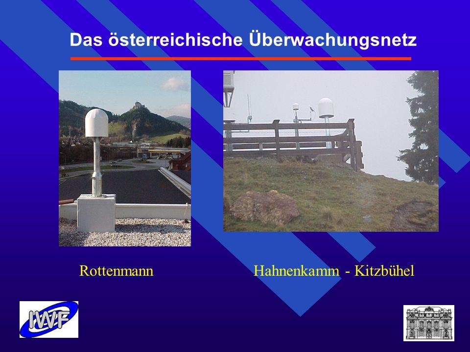Das österreichische Überwachungsnetz Rottenmann Hahnenkamm - Kitzbühel