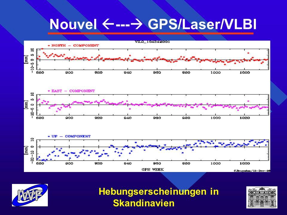 Nouvel --- GPS/Laser/VLBI Hebungserscheinungen in Skandinavien