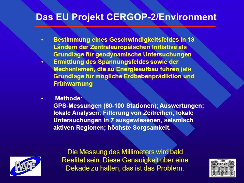 Das EU Projekt CERGOP-2/Environment Bestimmung eines Geschwindigkeitsfeldes in 13 Ländern der Zentraleuropäischen Initiative als Grundlage für geodyna