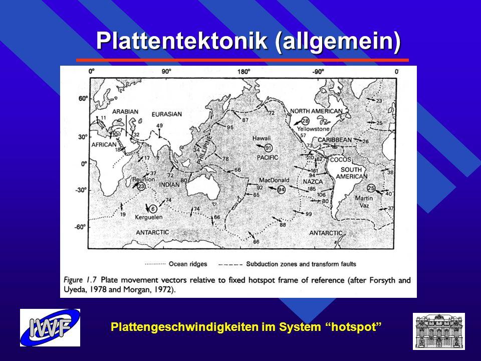 Plattentektonik (allgemein) Mögliche Mechanismen zur Bildung von Gräben bzw.