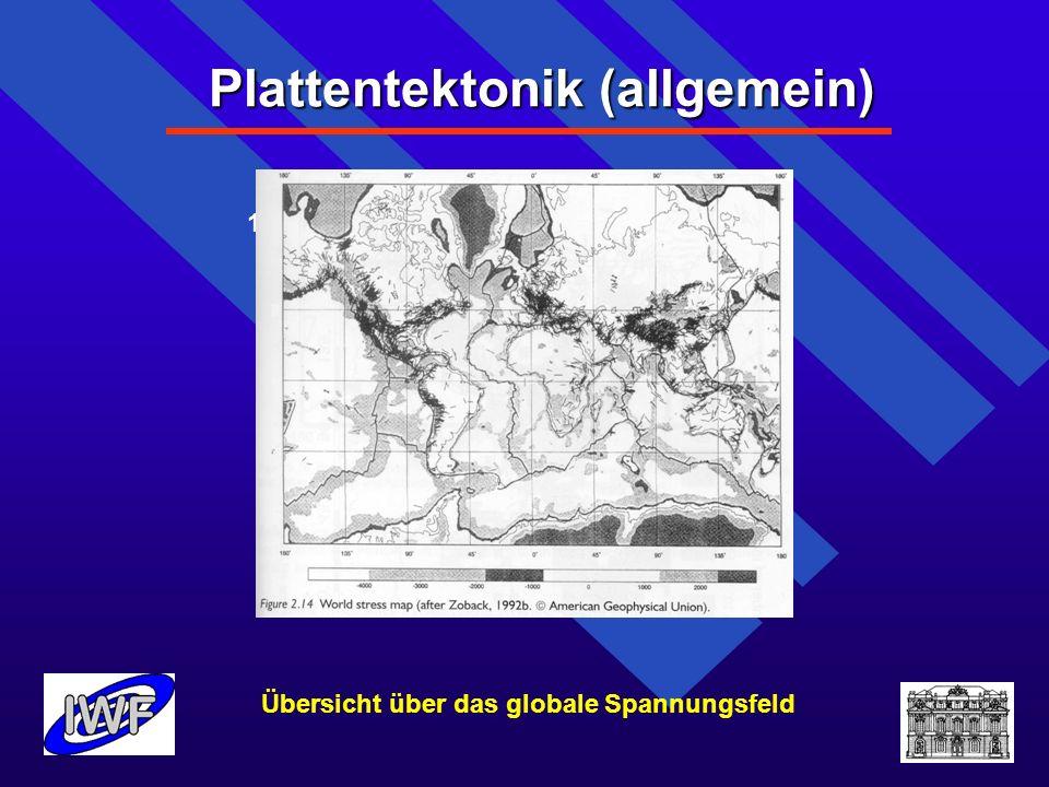 Plattentektonik (allgemein) 1.Plattentektonik (allgemein)