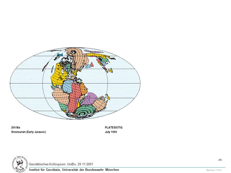 2 Geodätisches Kolloquium, UniBw, 29.11.2001 Becker 11/01 Institut für Geodäsie, Universität der Bundeswehr München