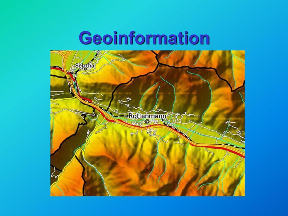 Geoinformation Dr.Norbert Bartelme Geoinformation Dr.Norbert Bartelme ao.Univ.-Prof. TU Graz Tag der offenen Tür g-tec Rottenmann Mai 2001
