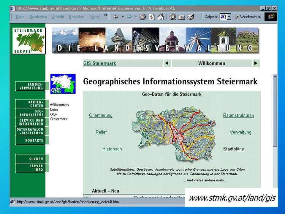 Attributdaten - Beispiel Ortsbildschutz Steiermark n Name n Jahr der Verlaut- barung n LGBl.Nr./ Stück n...