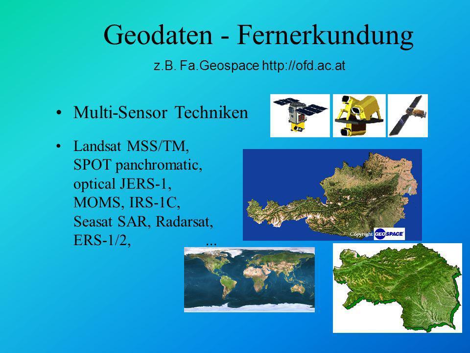 Geodaten - Fernerkundung z.B.