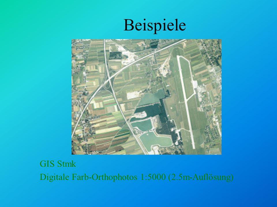 Analysemethoden: Selektion Pufferzonen: Schienenlärmkataster www.stmk.gv.at/land/gis 50 db 55 db 60 db 65 db