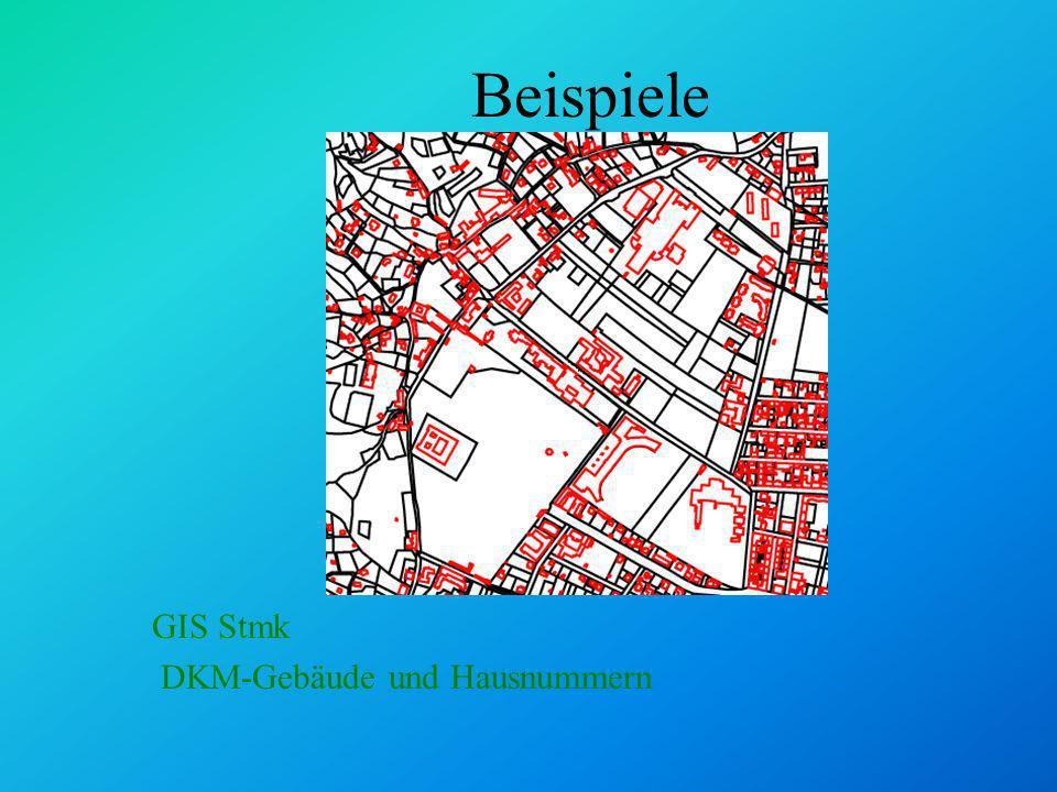 Analysemethoden: Selektion Polygone und Rechtecke: www.stmk.gv.at/land/gis